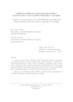 Sadržajna obrada kartografske građe u Nacionalnoj i sveučilišnoj knjižnici u Zagrebu
